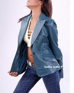 ISA leather womens blazer
