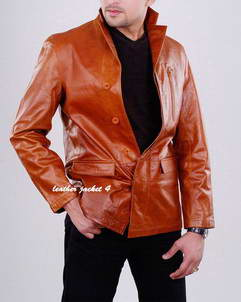 Jhony leather blazer mens