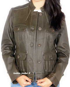 Joie Sew Button Leather Jacket