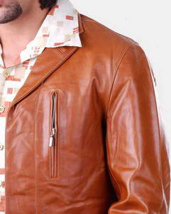 Joseph Goat pullup leather blazer