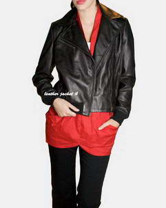 Cannes ladies biker leather jacket