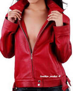 Lauren Red Womens Leather Jacket
