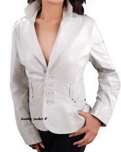 Sydney leather blazer womens