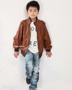 Liam leather jacket for boys