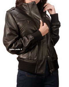 Lira Bomber Leather Jacket for Womens
