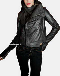 Loreint rick owens leather jacket