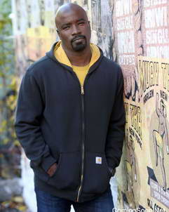 Colter-Hoodie Luke Cage Mike Colter Hooded Cotton Jacket