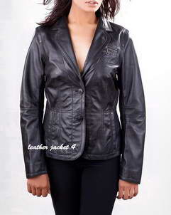 Madiline lambskin leather blazer