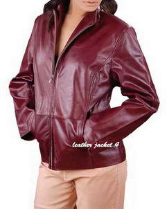 Madison slim fit leather jacket