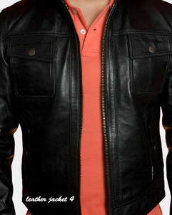 Meaux Bomber Leather Jacket