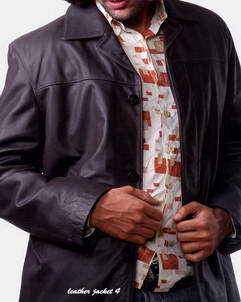 Mod Leather Blazer for Mens