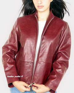Guess Womens red leather jacket