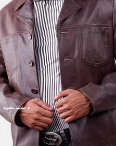 ModFrank Mens Leather Blazer