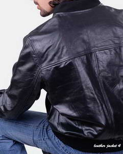 sports leather jacket