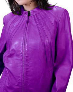 Nautical Purple Womens Leather Jacket