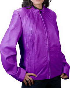 Nautical Women purple leather jacket