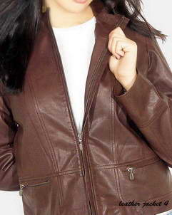 Next Zip Front Leather Jacket