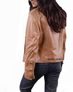 lamb leather womens blazer