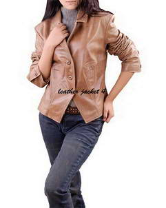 Nicole lamb leather womens blazer