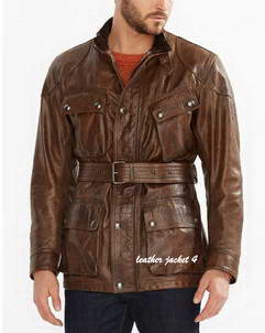 Panther-Brown leather jacket