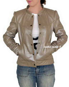 Paola metallic leather jacket