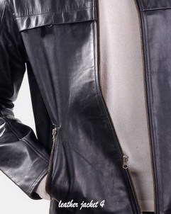 two way zipper leather jacket