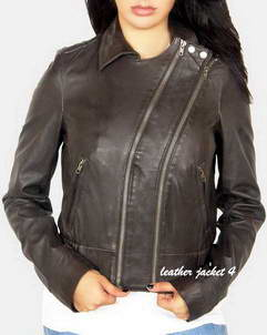 Rhapsody women leather moto jacket
