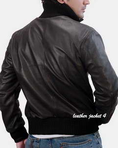 rolph leather bobmber jacket