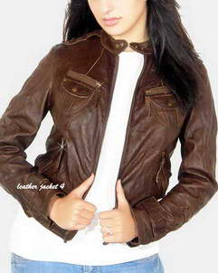 Savannah womens moto leather jacket