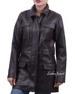 Swiss long leather jacket swiss