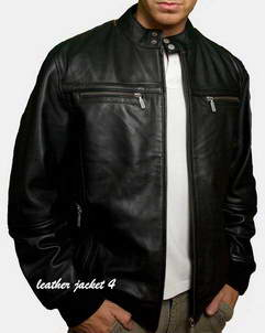 Tours Mens leather jacket in lamb leather