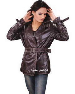Mia trench leather coat