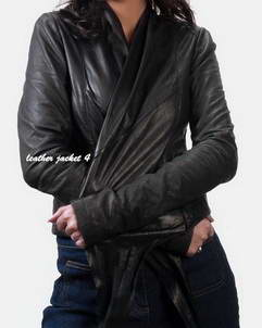 JIJIL Women Un-lined Leather Jacket