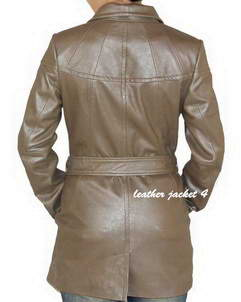 metallic leather coat