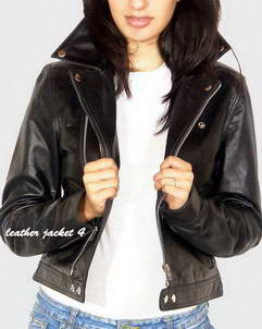 New-Biker womens leather biker jacket