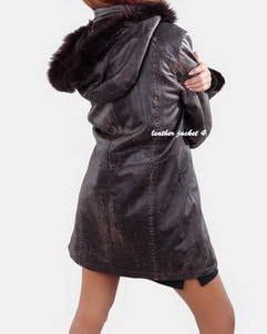 leather coat for womens
