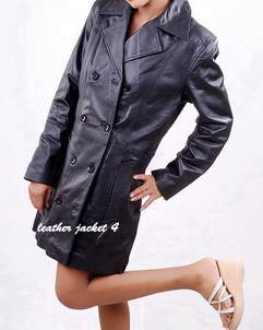 Rachel womens leather trench coat