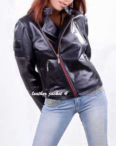 Anna lambskin leather moto jacket