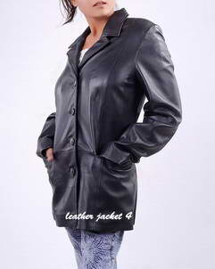 Patrica women long leather coat