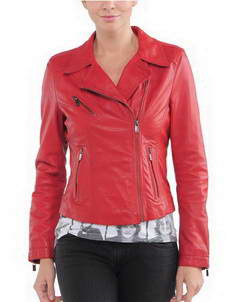 Neo womens moto leather jacket