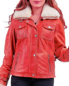 Leona-Jacket Leona Lewis Faux Fur Lamb Leather Jacket