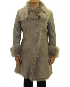 Reversible-Coat Womens Sheepskin Large Reversible Coat