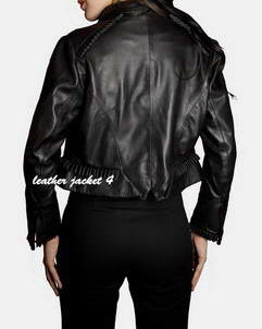 women's short leather jacket