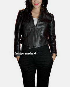 Nantere women's short leather jacket