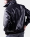 Leather Full-Zip Placket Leather Jacket