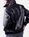 Leather Full-Zip Placket Leather Jacket