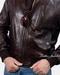 Tumbled Leather Moto Jacket