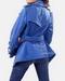 Blue Womens Leather Jacket