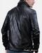 Zipper Detail Leather Jacket