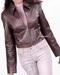 Women Slim Fit Leather Jacket
